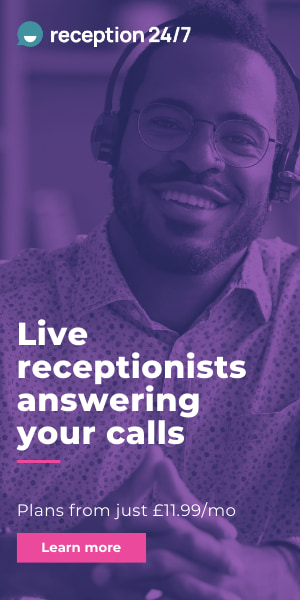 Reception 24/7: Live receptionists answering your calls. Plans from just £11.99 per month.